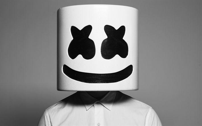 Download wallpapers Marshmello, musician, art, DJ, superstars, DJ Marshmello