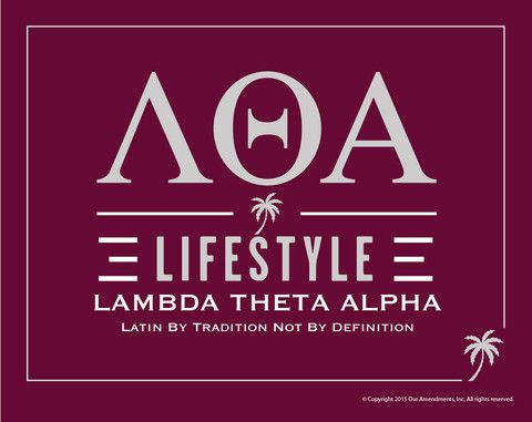 Lambda Theta Alpha Lifestyle Poster