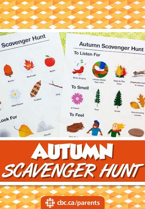 Printable Autumn Scavenger Hunt   Play