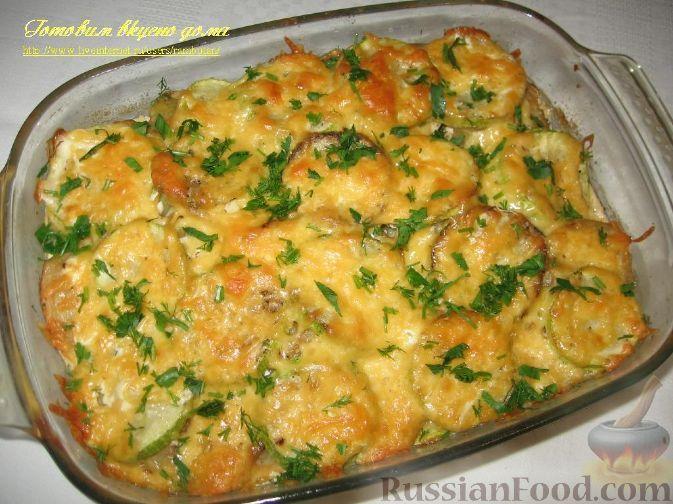 Фото приготовления рецепта: Картофель, запеченный с кабачками - шаг №7
