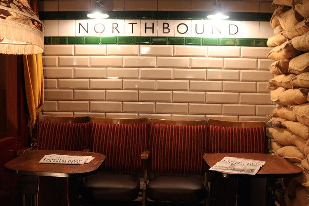 The bar is inspired by the idea of an imagined tube station used as an air raid shelter finding new life in post-Blitz London. | There Is A Secret Underground Bar In London That Contains An Entire Tube Carriage