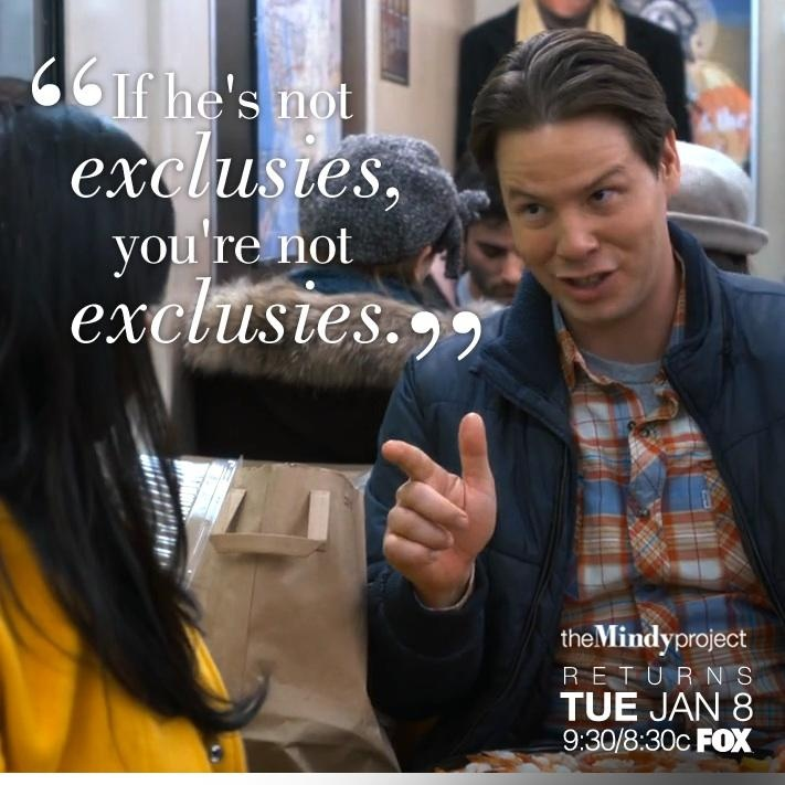 Mindy and Morgan The Mindy Project quote - Mindy Kaling and Ike Barinholtz