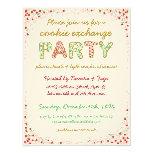 38 best christmas cookie swap invites images on pinterest cookie exchange swap party invite w instructions pronofoot35fo Choice Image
