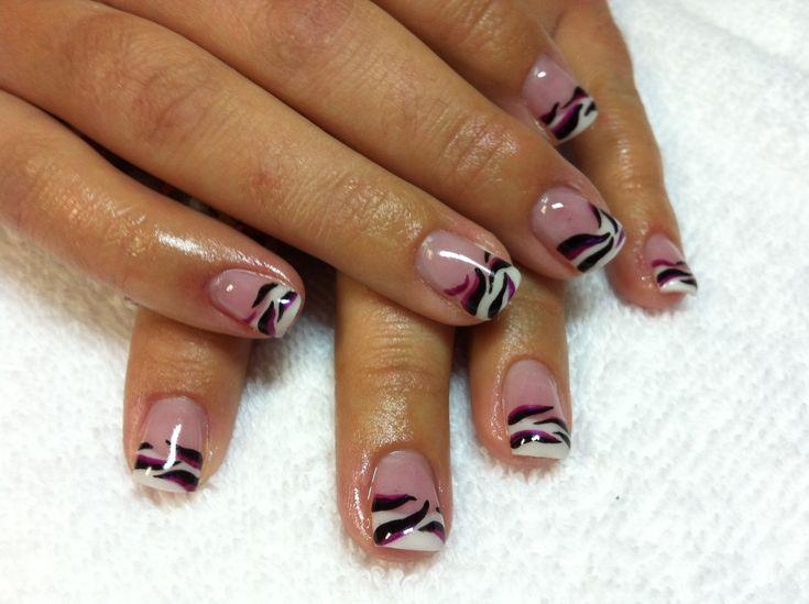 FRENCH TIP NAIL DESIGNS | gel nails karen rousseaux karen s nails nail art nail design swift ...