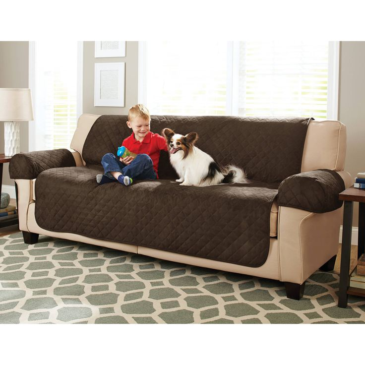 better homes and gardens waterproof nonslip faux suede sofa cover brown