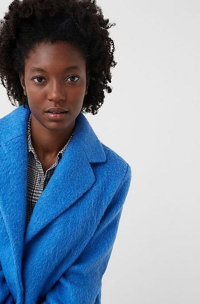 #coat #blue #fashion #womenswear #damesmode #wehkamp #Mango