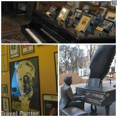 Arthur Rubinstein, Jerzy Kosinkis artifacts in City Museum of #Lodz at Poznanski FAmily Palace