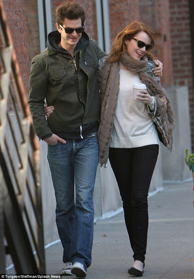 Andrew Garfield and Emma Stone. Couples should not be allowed to be this perfect.