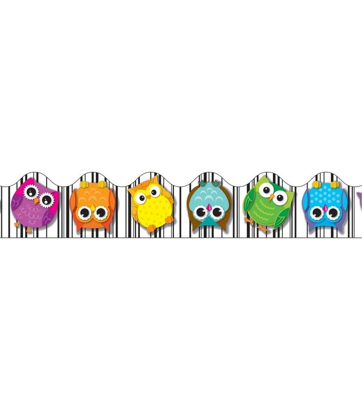Colorful Owls Borders - Carson Dellosa Publishing Education Supplies #CDWishList