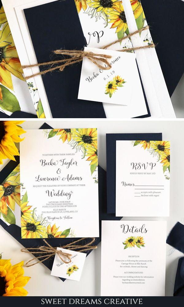 Pin On Rustic Sunflower Wedding Ideas