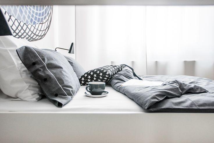 www.lillasky.com. Lilla Sky black white check bedding.