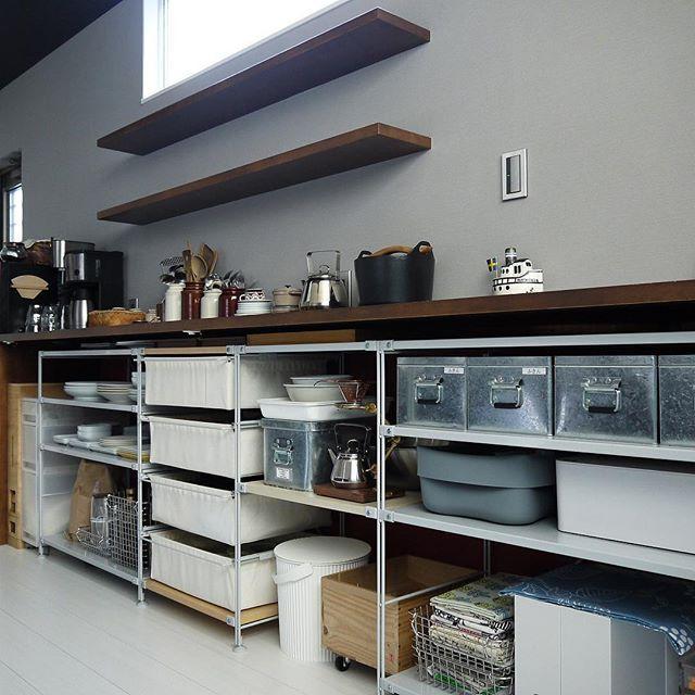 Good morning. キッチンからおはようございます。 カウンター上段からは食器類を退避させました。 しばらくはこれで。…