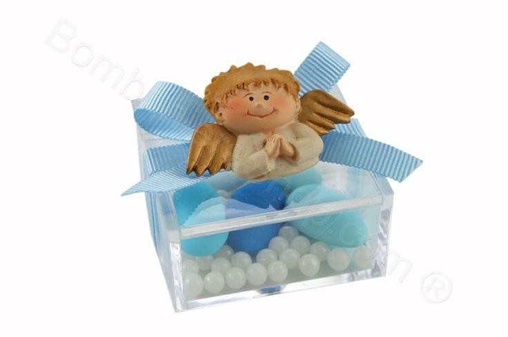 Angelo bambino con magnete 2 soggetti assortiti confezionato su plexi