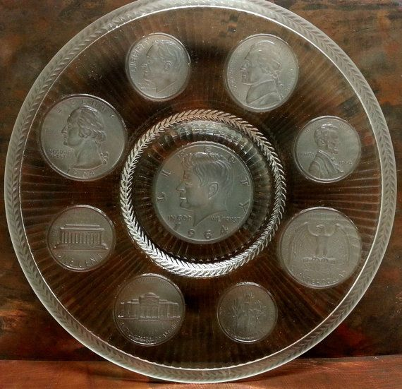 Imperial Us Coin 1964 Collector Glass Plate 9 By