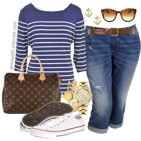 My Fave handbag! Love LV #outfit #Spring Casual Spring - Plus Size