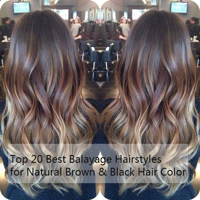 Balayage Hairstyles for Natural Brown & Black Hair Color, Trend of 2015