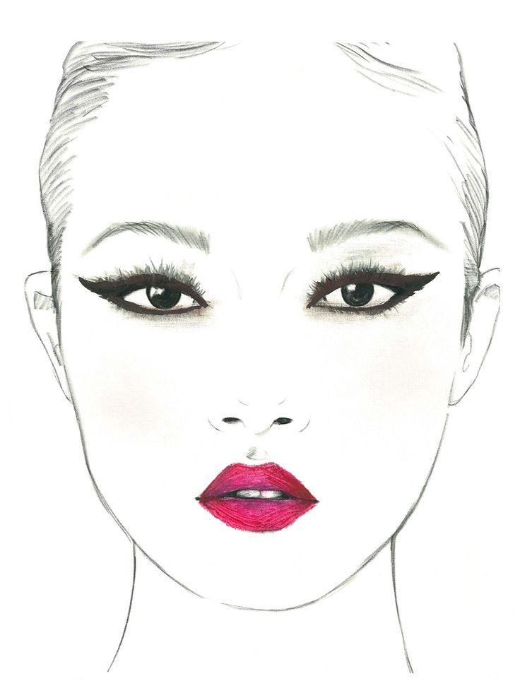 для рисунки макияжа карандашом на бумаге для начинающих лаб быстрое редактирование