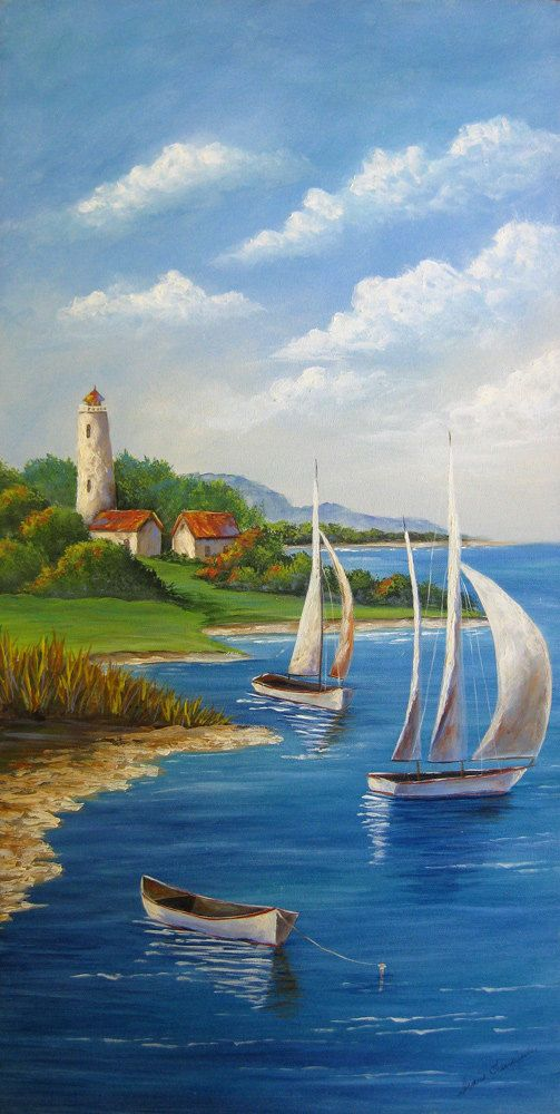 New  NEWPORT BAY An Original Fine Art Painting by DianeTrierweiler, $149.99
