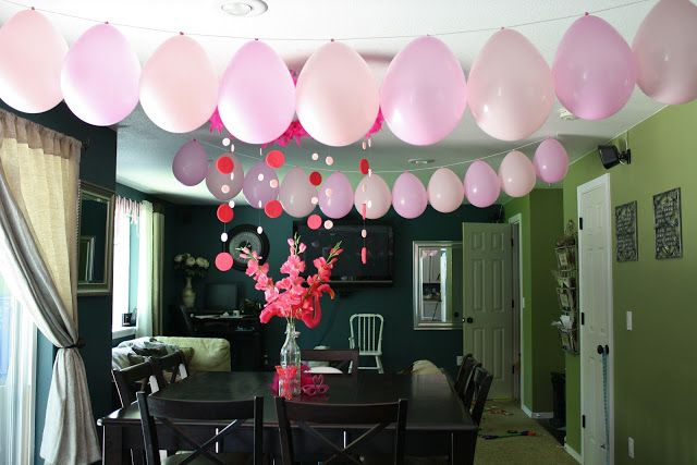 what a great way to hang balloons without helium