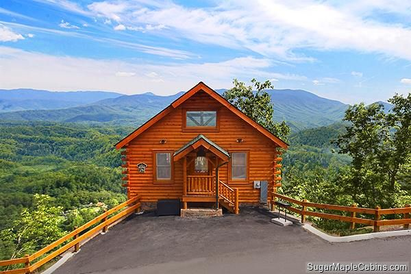 Experience the bliss of standing at the Edge of Forever with an amazing mountain view of Mt LeConte.