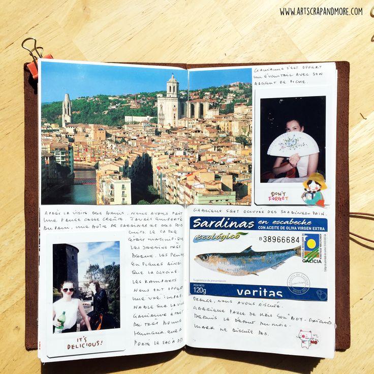 art scrap & more: MIDORI Traveler's Notebook - Barcelona (2)