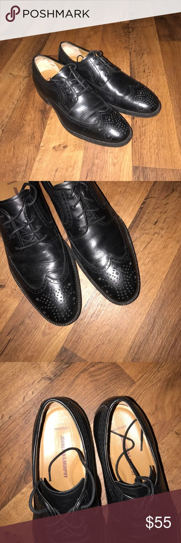 10.5 Johnston & Murphy Sheepskin Wingtip Shoes Excellent condition Johnston & Murphy Shoes Oxfords & Derbys