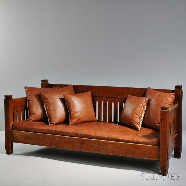 Craftsman Sofa Restoration Full Grain Vintage Leather ...