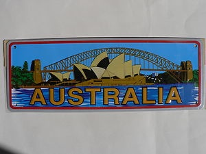 AUSTRALIAN SOUVENIR NUMBER PLATES   SYDNEY OPERA HOUSE
