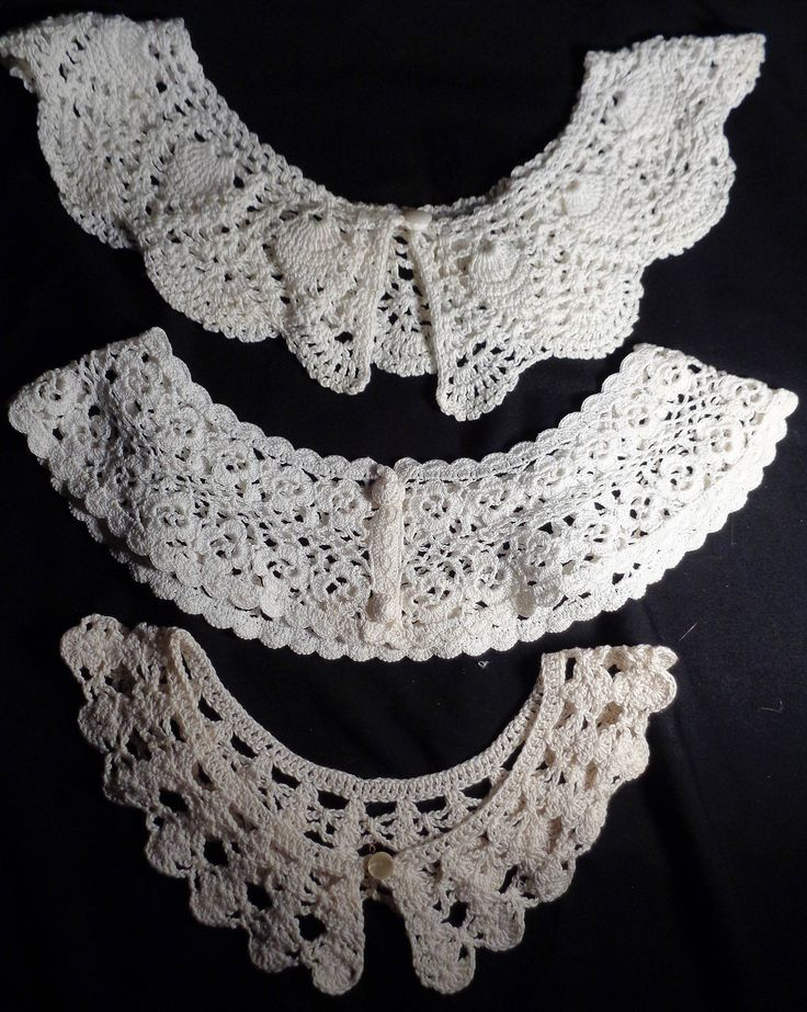 New to my #etsy shop: Vintage Lot of Five (5) Crochet Lace Collars, Vintage Hand Crochet Collar Lot, 3 Button Collars, 2 Off Shoulder, Repurpose, Crafts http://etsy.me/2mYGCVw  #vintage #vintagecrochet #vintagecrochetcollars #vintagewomanscollars #crafts #repurpose