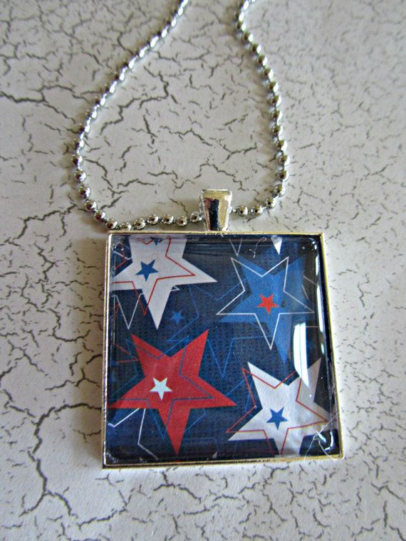New and ready for any occasion is this adorable star inspired glass tile pendant necklace. I created this necklace with a 1.5 inch glass tile.