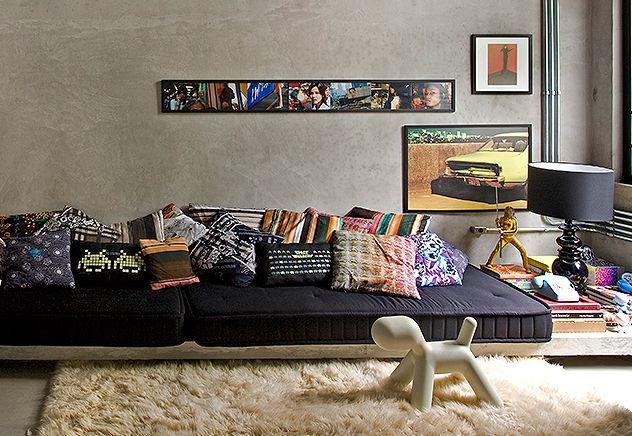 Casa do arquiteto Guilherme Torres. Ideias de decoração com estampas. Tendências da moda e decoração para primavera-verão 2014.