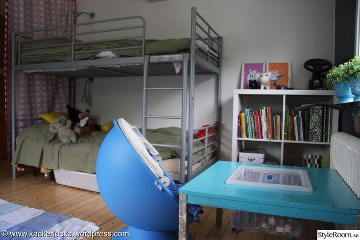 barnrum,pojkrum,våningssäng,legobord
