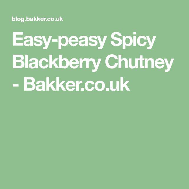 Easy-peasy Spicy Blackberry Chutney - Bakker.co.uk