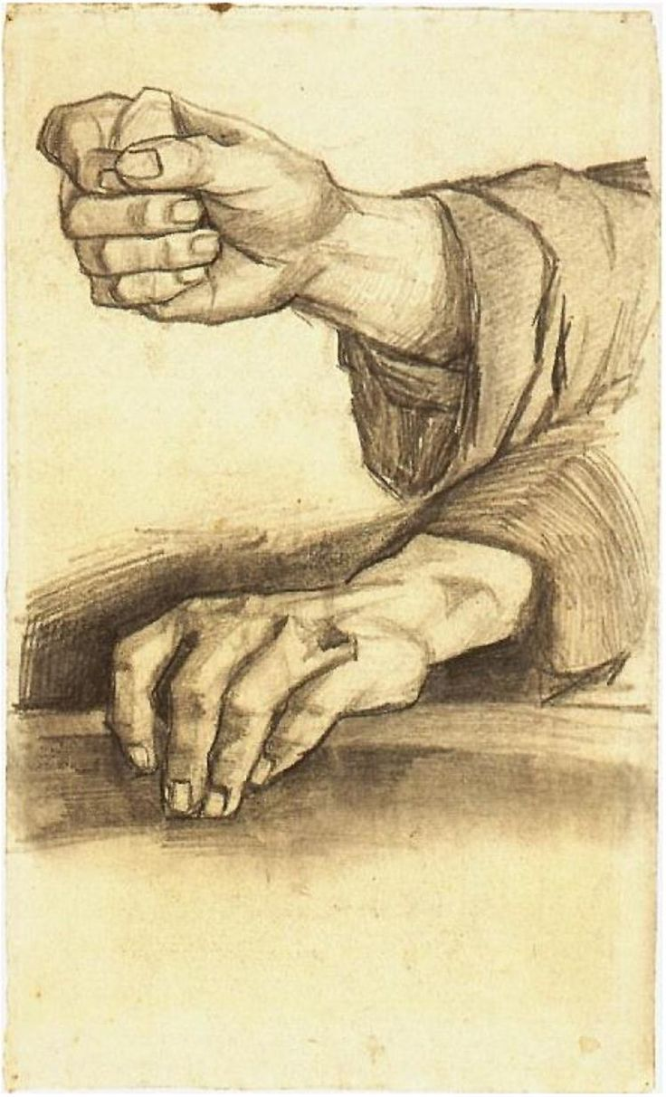 Vincent van Gogh's Two Hands Drawing