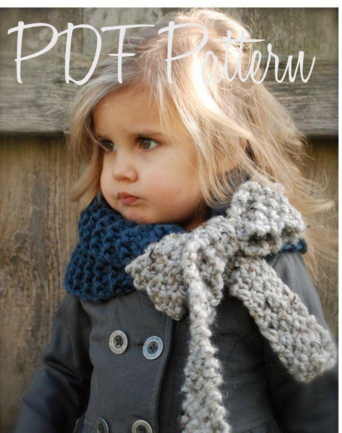 Knitting PATTERN-The Savannah Cowl (Child, Adult sizes). $5.50, via Etsy.