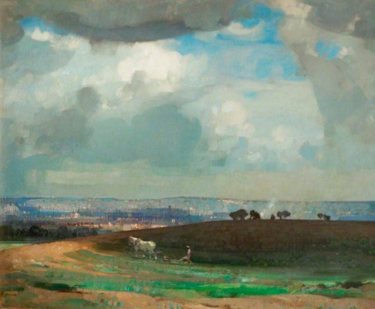 May Morning, Nottingham  by John Alfred Arnesby Brown