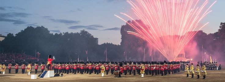 The Beating Retreat (weekend before Trooping of the colour every year i.e. mid June)