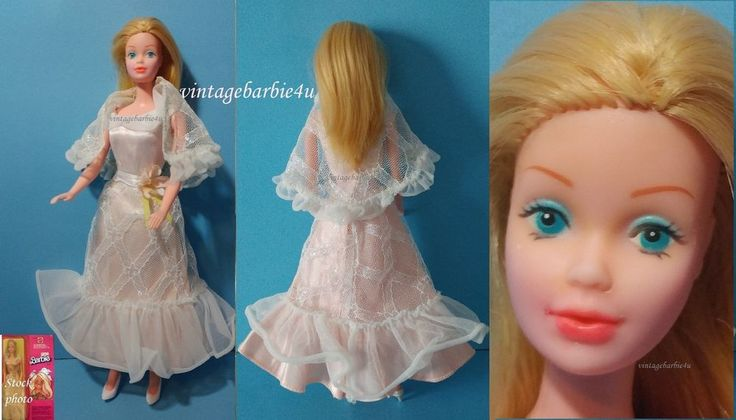 Vintage Canadian European Barbie Doll 7382 in Pink & White Lights The Night 9738 #Mattel #DollswithClothingAccessories