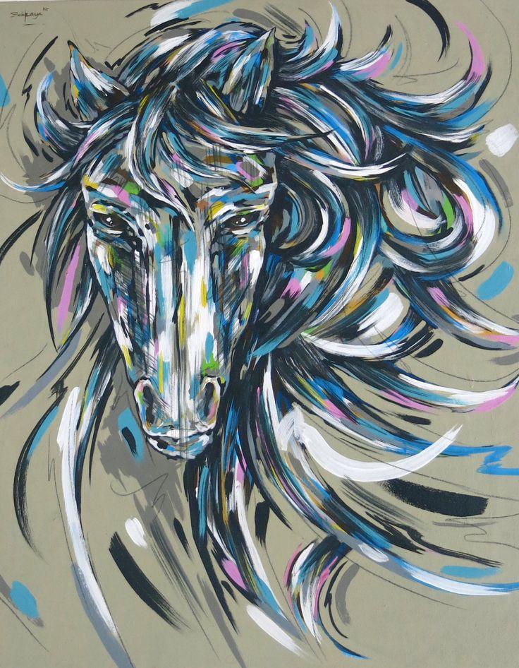 Acrylic Painting on canvas, Horse Painting, Art gallery, Fine Art, original art,Tiny Dancer 2015 Animal Spirit guide by SacredHeyokah on Etsy
