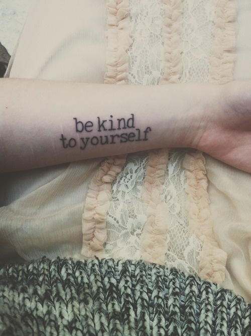 Letting out doesn't have to leave a scar be kind, you can do it