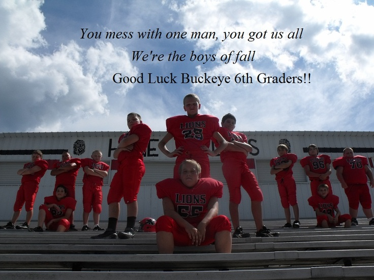 Awesome football picture of 6th grade