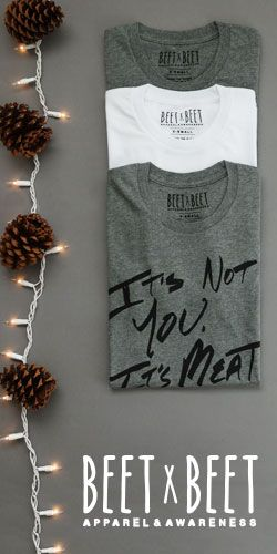 We LOVE BEETxBEET clothing! 100% #vegan & all about the awareness. Add 'em to your Christmas Wish List!