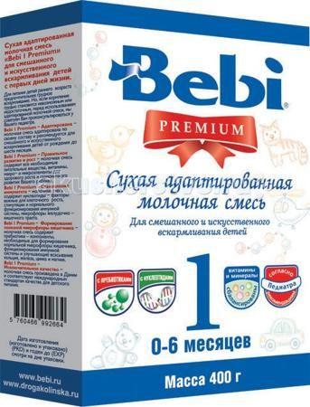 Bebi Заменитель Premium 1 с рождения 400 г (картон)  — 280р. ---  Заменитель Bebi Premium 1 с рождения - адаптированная молочная смесь, которая подходит детям с рождения и до 6 месяцев. Рекомендована для искусственного и смешанного вскармливания. Заменитель содержит все необходимые питательные вещества, которые так необходимы ребенку: витамины, макро- и микроэлементы для здорового роста и гармоничного развития. Кроме того, в смеси присутствуют нуклеотиды, которые регулируют рост клеток и…