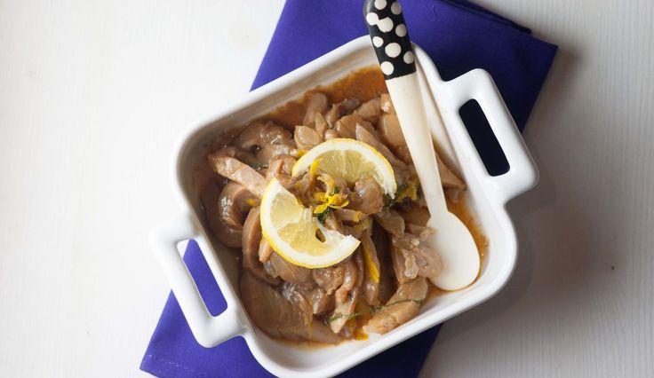 Branzino marinato con salsa di soia e limone