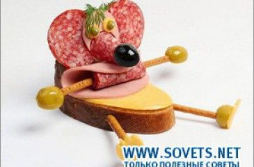 Оригинальные бутерброды для детей