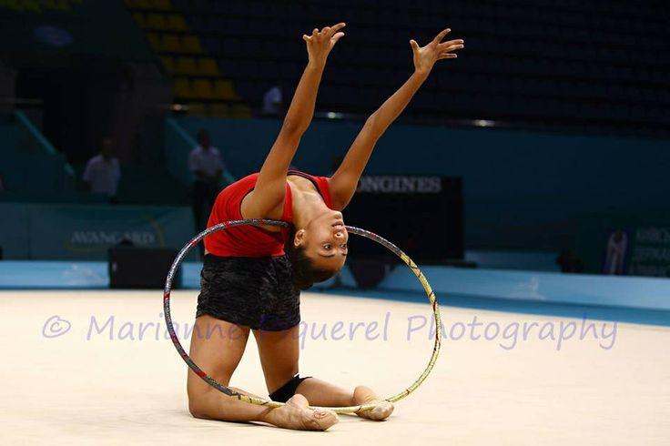 Natalia Garcia training rhythmic gymnastics