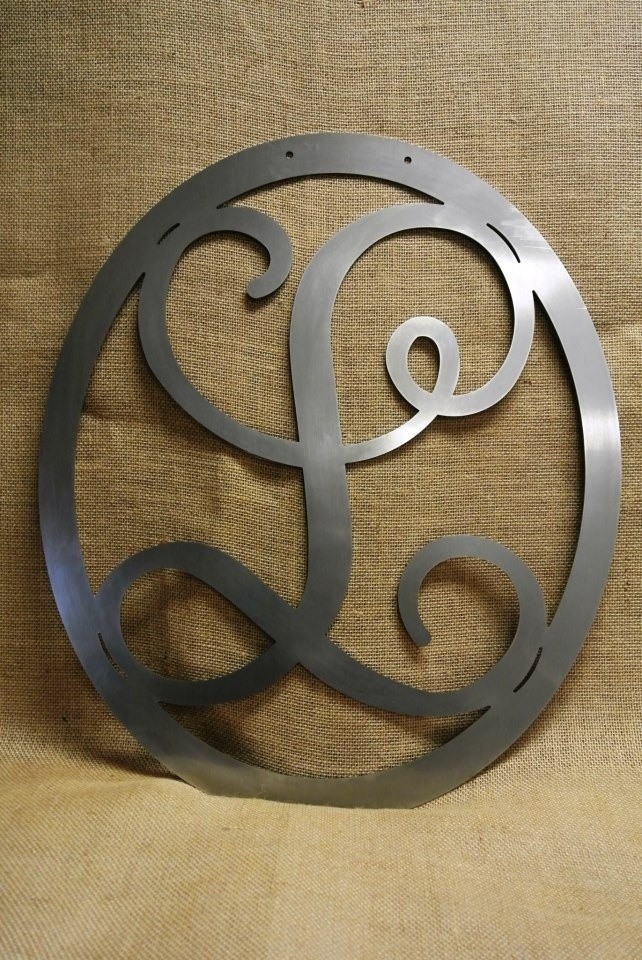 Wall monogram letter raw steel DIY paint custom decor wedding birthday gift. $39.00, via Etsy.
