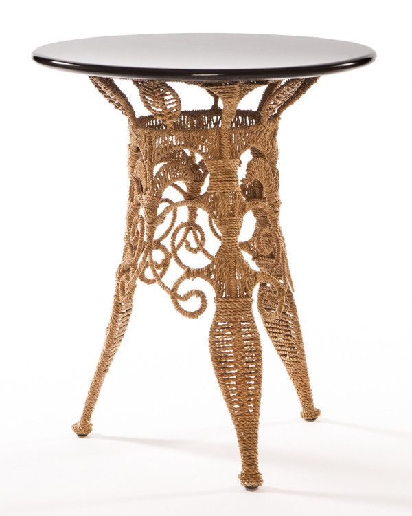 Bohemian Seagrass Woven Indoor/Outdoor Tall Side Table