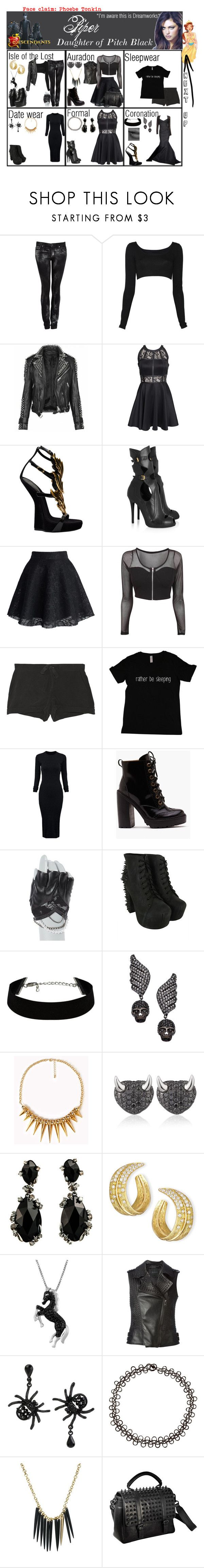 """""""Piper. Daughter of Pitch Black (I'm aware it's Dreamworks). Next up: Anastasia"""" by elmoakepoke ❤ liked on Polyvore featuring Helmut Lang, Nadia Tarr, Burberry, AX Paris, Zac Posen, Giuseppe Zanotti, Alexander McQueen, Chicwish, Equipment and WithChic"""