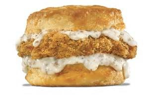 hardees pork chop and gravy biscuit...good grief it looks heavenly :)
